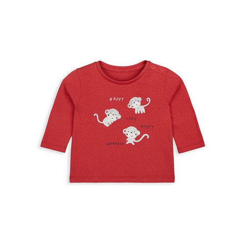 Foto Produk little monkey t-shirt WB004 - Red, Up to 1 mnth dari Mothercare ELC Official