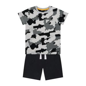 Foto Produk pixelated t-shirt and shorts set VG299 - Darks Multi, 18-24 months dari Mothercare Official Shop