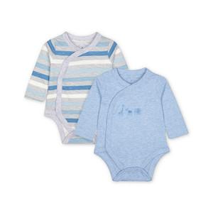 Foto Produk my first blue bodysuits - 2 pack VA060 - Blue, 9-12 months dari Mothercare ELC Official