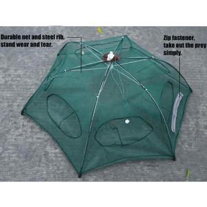 Foto Produk Payung Perangkap Bubu Jaring Jala Ikan Fishing Net Trap Cage 6 Lubang dari Nbl-shop