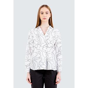 Foto Produk Colorbox Printed Oversized Shirt I:Blwkey120E001 Off White - Off White, S dari Colorbox Indonesia