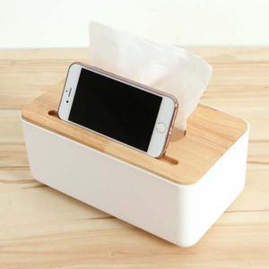 Foto Produk Kotak Tisu Kayu dengan Smartphone Holder Mobile and Tissue Box dari X Super Store