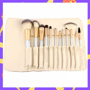 Foto Produk Kuas Make Up / Brush Make Up Set / Alat Make Up ( 12 - 24 Pcs ) - Champagne Gold, 12 pcs dari emtwo