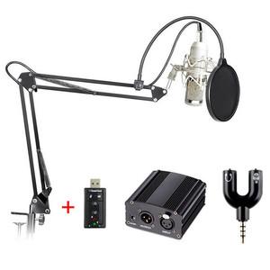 Foto Produk TaffSTUDIO BM-800 Paket Smule Condenser Microphone + Scissor Arm Stand dari Taffware Official Store