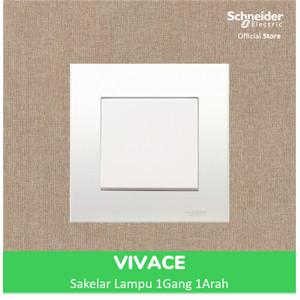 Foto Produk Schneider Electric Vivace Saklar Lampu - 1 Gang 1 Arah - KB31_1_WE_G3 dari Schneider Electric Home