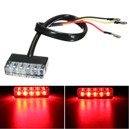 Foto Produk garansi... 12V 5 LED Rear Tail Running Stop Brake Light Red L dari Rumah Cantik Hilwa