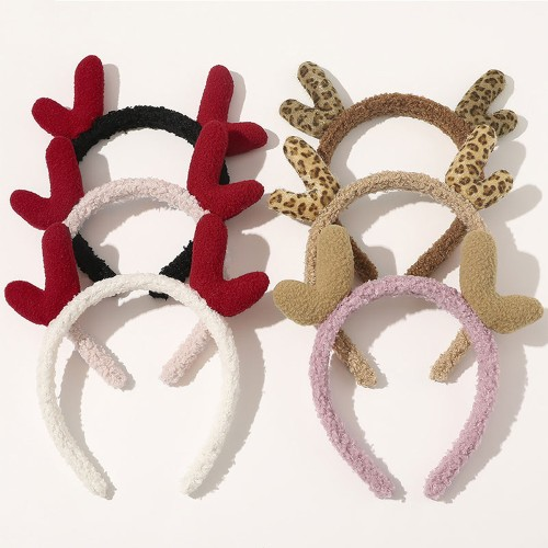 Foto Produk MXBEAUTY for Women ristmas Plush Hair Bezel Band Solid Color dari Food Hollic
