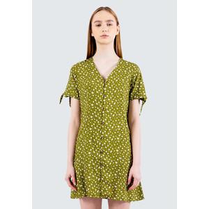 Foto Produk Colorbox Floral V-Neck Short Dress I:Diwkey120E037 Olive - Olive, XS dari Colorbox Indonesia