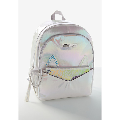 Foto Produk Justice Girls Tas Ransel Leopard Silver-1423 - One Size dari Justice Official Store