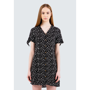 Foto Produk Colorbox Floral V-Neck Short Dress I:Diwkey120E038 Black - Black, S dari Colorbox Indonesia