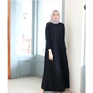 Foto Produk HOT Baju Havana Dress Hitam /Grosir Baju Muslim Gamis Long Maxi Dress dari stanvict