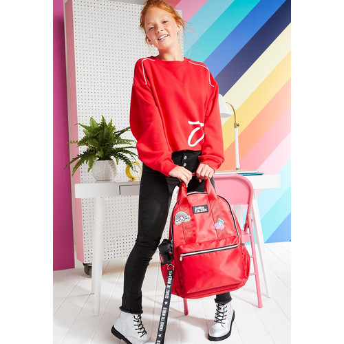 Foto Produk Justice Girls Tas Ransel Red Patch Ladybug Red-6938 - One Size dari Justice Official Store
