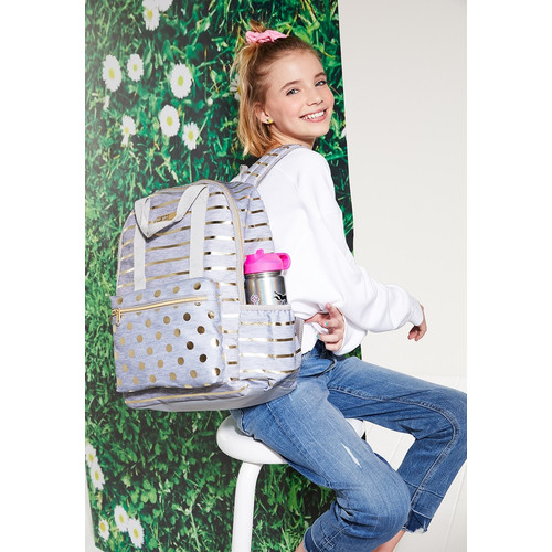 Foto Produk Justice Girls Tas Ransel Polkadot Cloudy Heather-4272 - One Size dari Justice Official Store