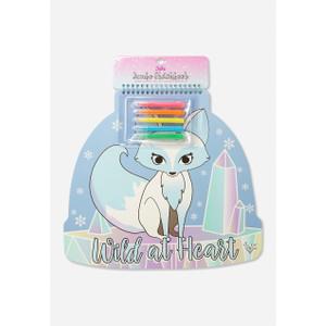 Foto Produk Justice Girls Buku Menggambar Wild At Heart Snow Fox Multi-1523 - One Size dari Justice Official Store