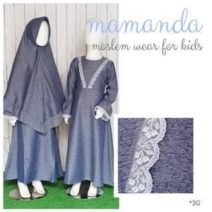 Foto Produk Gamis Anak Denim Saleha Series by Mamanda dari kedai berkah