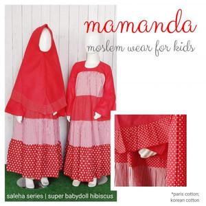 Foto Produk Gamis Anak Super Babydoll Hibiscus Saleha Series by Mamanda dari kedai berkah