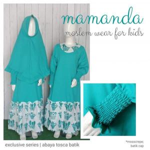 Foto Produk Gamis Anak Abaya Tosca Batik Exclusive Series by Mamanda dari kedai berkah
