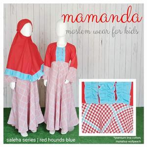 Foto Produk Gamis Anak Red Hounds Blue Saleha Series by Mamanda - XS dari kedai berkah