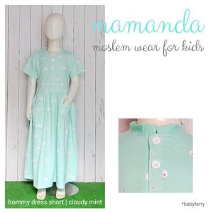 Foto Produk Dress Anak Cloudy Mint Hommy Dress Short by Mamanda dari kedai berkah
