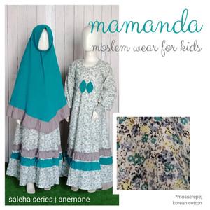Foto Produk Gamis Anak Anemone Saleha Series by Mamanda - XS dari kedai berkah