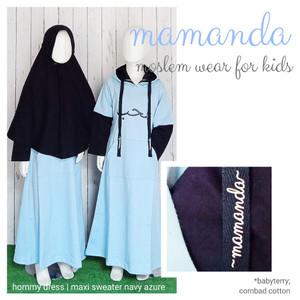 Foto Produk Gamis Anak Maxi Swtr Navy Azure Hommy Dress by Mamanda dari kedai berkah