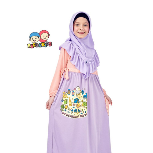 Foto Produk Gamis Kaos Anak Raggakids RG-40 dari kedai berkah