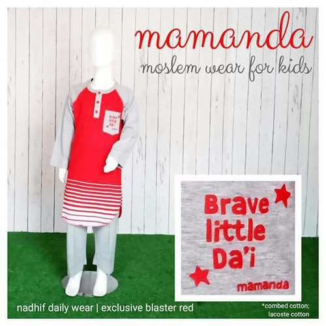 Foto Produk Set Nadhif Anak Mamanda Blaster Red (Nadhif Daily Wear) dari kedai berkah