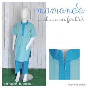 Foto Produk Koko Anak Set Nadhif Turquoise by Mamanda dari kedai berkah