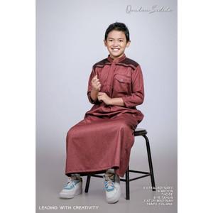 Foto Produk Thobe/Jubah Anak Extraordinary Series by Qoulan Sadida - Maroon, Size XL dari kedai berkah