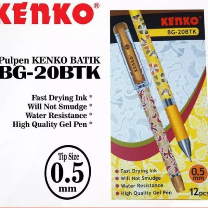 Foto Produk Hemat pulpen jel kenko batik BG 20BTK dari techno shop26