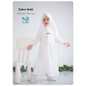 Foto Produk Gamis Anak Zahra White Series by NuBintang - Size 10 dari kedai berkah