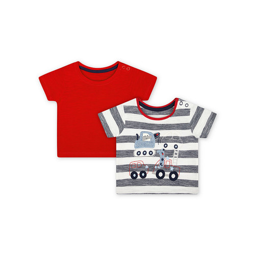 Foto Produk Mothercare road trip t-shirts - 2 pack NAVY - 3-6 months dari Mothercare Official Shop