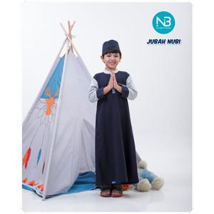Foto Produk Jubah/Thobe Anak Nubi by NuBintang - Navy, Size L dari kedai berkah