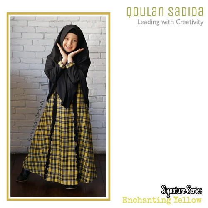 Foto Produk Gamis Anak Enchanting Yellow Signature Series by Qoulan Sadida dari kedai berkah