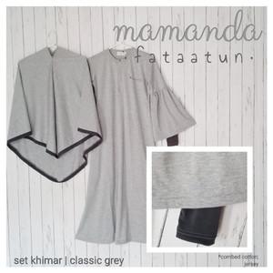 Foto Produk Gamis Remaja/Dewasa Classic Grey by Mamanda dari kedai berkah