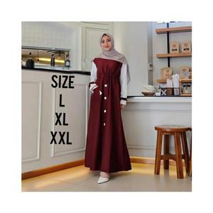 Foto Produk HV467 Baju Gamis Wanita Remaja Murah XL Letsmuslimah Cewek Muslim Hija dari Kincir Angin 88