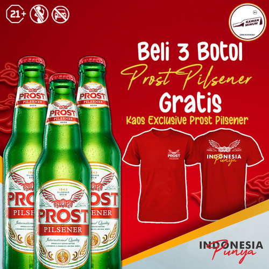 Foto Produk Beli 3 Prost Pilsener 330mL FREE T-Shirt dari kawan minum