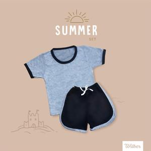 Foto Produk Wilber - Setelan Baju Anak Modis dan Keren Kualitas Ekspor - GREY DIVE, S dari Morodoro Baby Shop