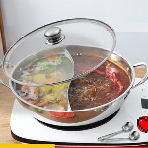 Foto Produk Panci Hot pot Sekat 28 N 30 cm / Suki Shabu Stainless / PANCI 2 RASA - 28Cm dari LockGamerz Electronics