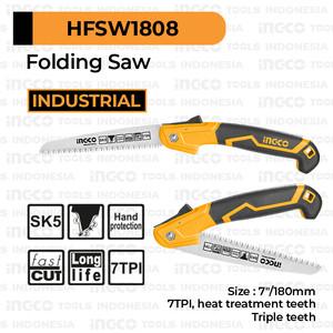 """Foto Produk Folding Saw (7""""/180mm) Fast Cut INGCO HFSW1808 Gergaji Kayu Pipa Lipat dari INGCO Tools Indonesia"""