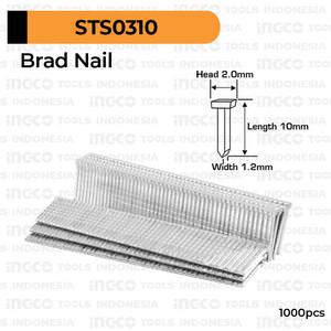Foto Produk Brad Nail (F10) INGCO STS0310 Refill Isi Paku Tembak T F 10 mm HSG1405 dari INGCO Tools Indonesia