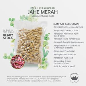Foto Produk JAHE MERAH Kapsul Curah Herbal 600mg Imunitas Anti Aging Kanker Stroke dari Indojuara