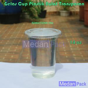 Foto Produk Gelas Cup Plastik 14 oz Tebal Tanpa Tutup Gosyen per 50 pcs dari Medan Pack
