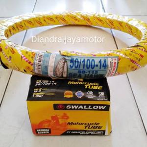 Foto Produk Paket ban matic swallow ban dalam uk.50 100.ring 14 promo dari pasti jaya 5000