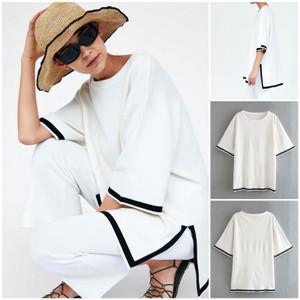 Foto Produk 58048 White Loose Top / Blouse Jumbo Putih dari XineShop
