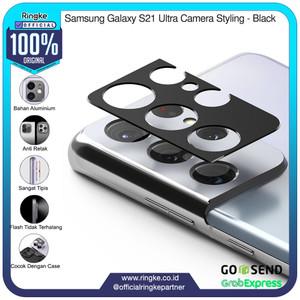 Foto Produk Ringke Samsung Galaxy S21 Ultra Camera Styling Black Pelindung Camera dari Official Ringke Partner