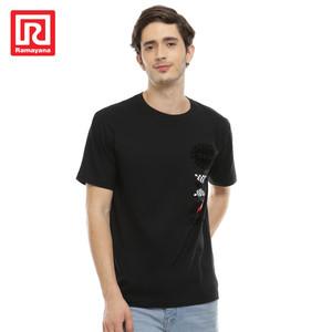 Foto Produk Ramayana - Polo Ralph House - Tshirt S/S Sablon Bludru 75.250 - Hitam, XL dari Ramayana Dept Store