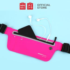 Foto Produk MINISO Tas Pinggang Waist Bag Waistbag Sport Olahraga Colorful Wanita - Rose Red dari Miniso Indonesia