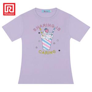 Foto Produk Ramayana - JJ Kids - Tshirt Sablon S/S Anak Perempuan ins290382 - Violet, 4 dari Ramayana Dept Store