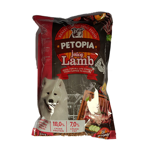 Foto Produk petopia 1 kg dog juicy lamb dari F.J. Pet Shop